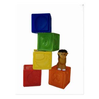 bloques coloridos del juego del bebé postales