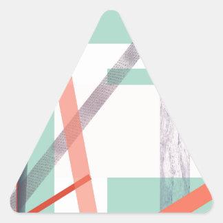 Bloques coloridos pegatina triangular
