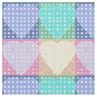 Bloques cuadrados del edredón de los corazones del telas