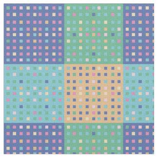 Bloques cuadrados del edredón del país telas
