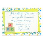 Bloques de ABC de la fiesta de bienvenida al bebé Comunicados Personales