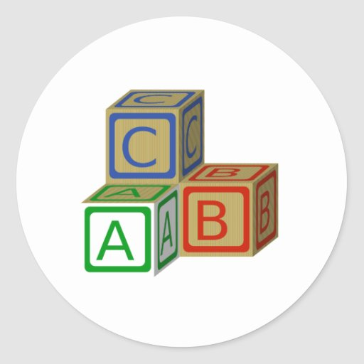 Bloques de ABC Pegatinas