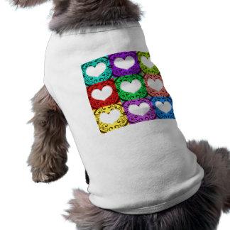 Bloques de corazón I Playera Sin Mangas Para Perro