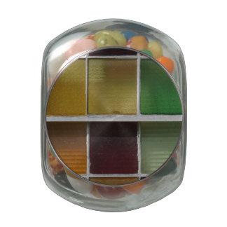 Bloques de cristal frascos de cristal jelly belly