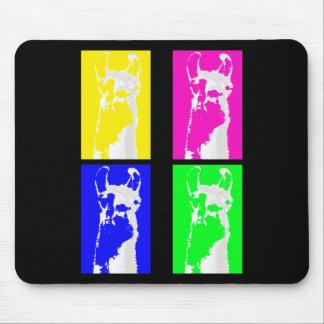 Bloques de la llama en colores brillantes en todo mousepad