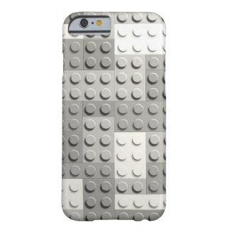 Bloques de la plata funda de iPhone 6 barely there