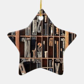 Bloques de la prensa de copiar del vintage adorno navideño de cerámica en forma de estrella