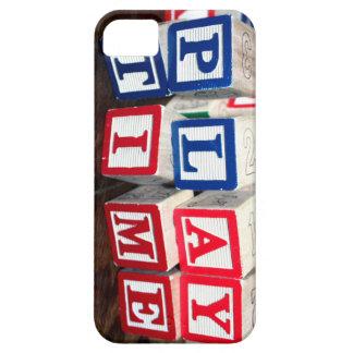 Bloques de madera del juguete de Childs iPhone 5 Case-Mate Carcasa