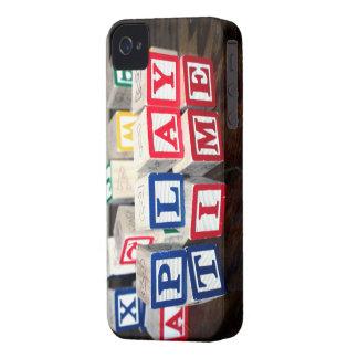 Bloques de madera del juguete de Childs Case-Mate iPhone 4 Protectores
