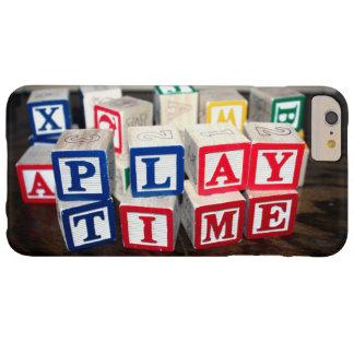 Bloques de madera del juguete de Childs Funda De iPhone 6 Plus Barely There