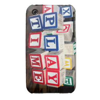 Bloques de madera del juguete de Childs Case-Mate iPhone 3 Cobertura