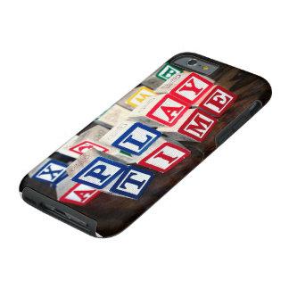 Bloques de madera del juguete de Childs Funda De iPhone 6 Tough