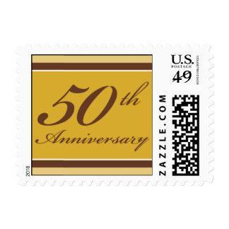 Bloques de oro del aniversario sello