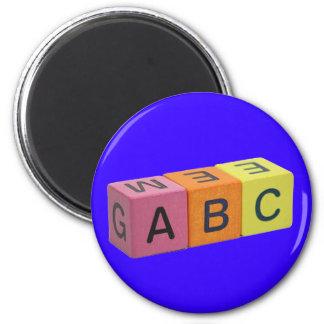 Bloques del alfabeto de ABC Iman