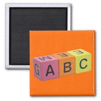 Bloques del alfabeto de ABC Iman Para Frigorífico