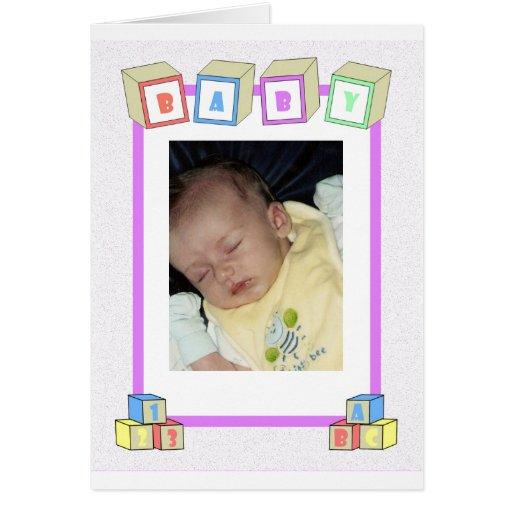 Bloques del bebé tarjeta de felicitación