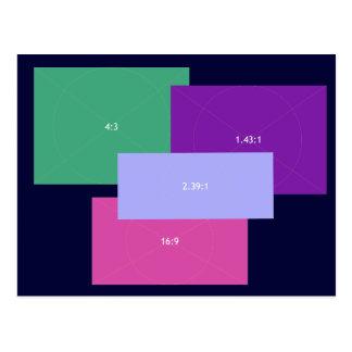 Bloques del color de la relación de aspecto tarjeta postal