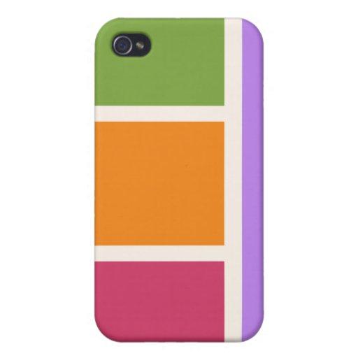 Bloques del color del arte pop iPhone 4 funda
