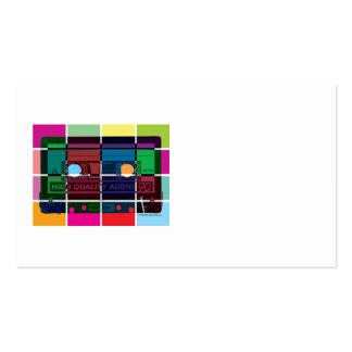 bloques del color del casete de los años 80 tarjeta de visita
