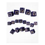 Bloques del juguete de Betty del feliz cumpleaños  Plantillas De Membrete
