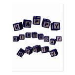 Bloques del juguete de Betty del feliz cumpleaños  Postal