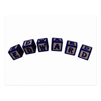 Bloques del juguete de Edward en azul Postal