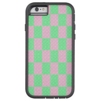 Bloques del verde y del rosa, caso del iPhone 6 Funda Tough Xtreme iPhone 6