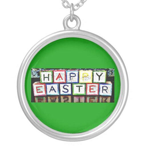 Bloques felices de Pascua Collares Personalizados