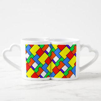 Bloques geométricos 33 tazas para parejas