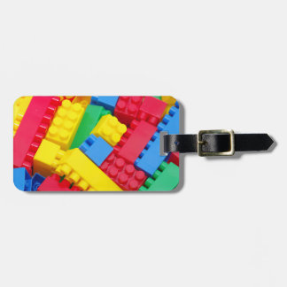 Bloques huecos coloridos etiquetas de equipaje