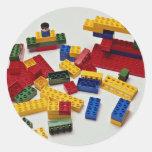 Bloques huecos coloridos para los niños pegatinas redondas