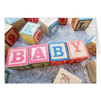 Bloques huecos de la palabra de madera del bebé tarjeta pequeña