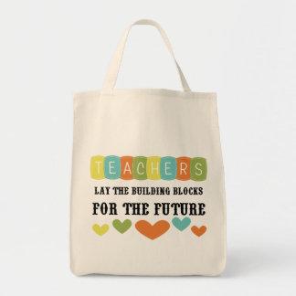 Bloques huecos para el futuro bolsas lienzo