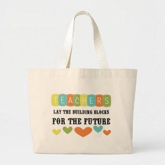 Bloques huecos para el futuro bolsa lienzo