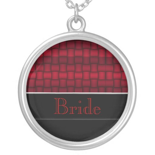 Bloques iridiscentes (rojos) (boda) collares