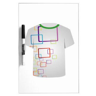 Bloques Plantilla-coloridos de la camiseta Pizarra
