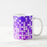 Bloques púrpuras taza de café