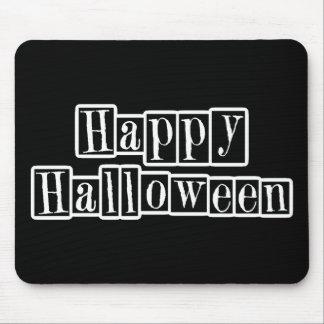Bloques retros del feliz Halloween Alfombrillas De Raton