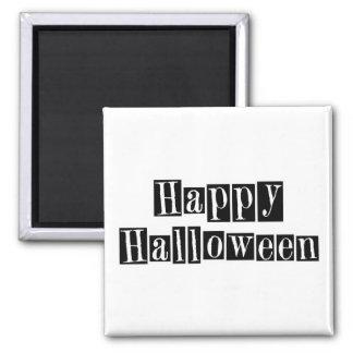Bloques retros del feliz Halloween Imanes De Nevera