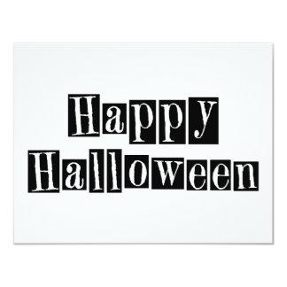 """Bloques retros del feliz Halloween Invitación 4.25"""" X 5.5"""""""
