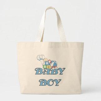 Bloques y bebé de los juguetes bolsa tela grande