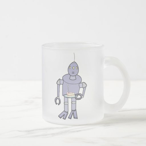 Blor-T Robot 10 Oz Frosted Glass Coffee Mug