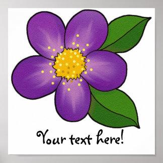 Blossom 09 - Royal Purple Poster