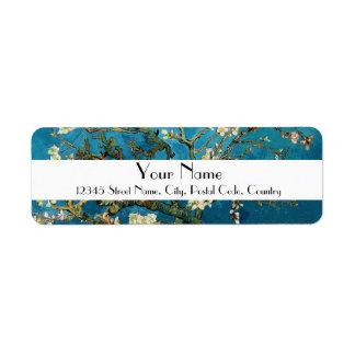 Blossom Almond Tree,  Vincent van Gogh. Custom Return Address Label