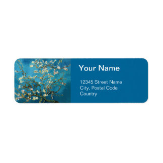 Blossom Almond Tree,  Vincent van Gogh. Labels