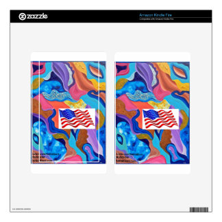 Blossom American Flag Decals For Kindle Fire