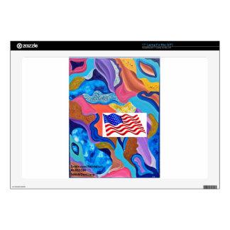 """Blossom American Flag Skin For 17"""" Laptop"""