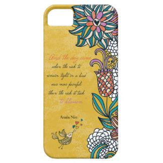 Blossom - Anais Nin iPhone 5 Cover