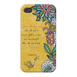 Blossom - Anais Nin iPhone 4 Cover
