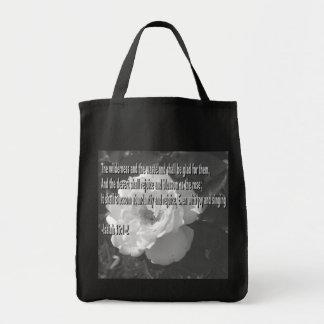 Blossom as the Rose Black Bag